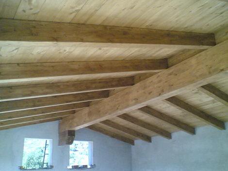 Lobina legnami strutture in legno realizzazione e posa in opera villasimiuus sardegna - Legno sbiancato tetto ...